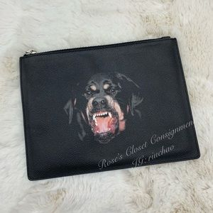 Givenchy Rottweiler zipped medium clutch